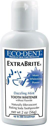 Eco-dent Extrabrite Baking Soda Zahnpulver Dazzling Mint - 2 Unze #dentalcare