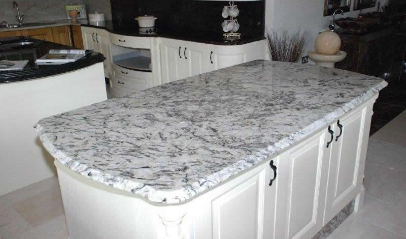 Blue Ice Granite Countertop For Bathroom Idea