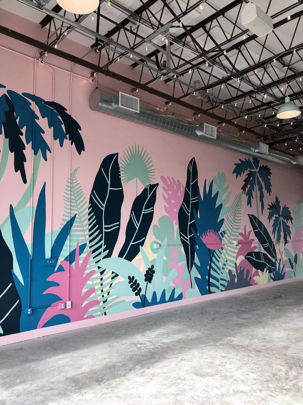 Coconut Club Mural Process — Meg Biram