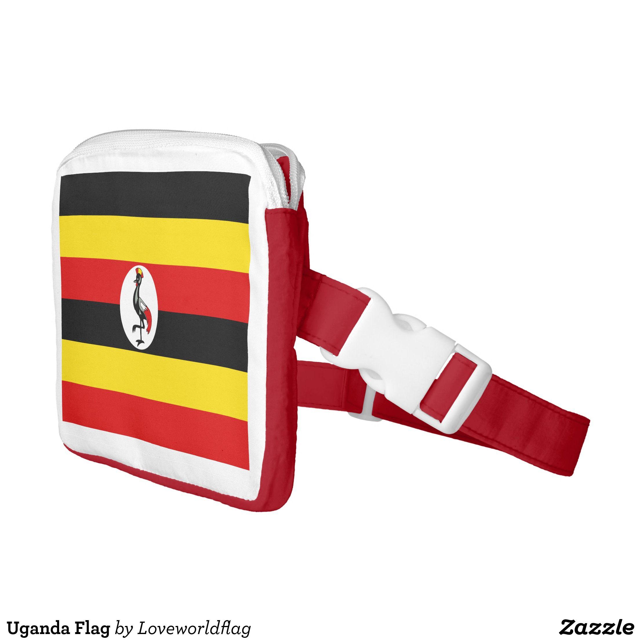 Uganda Flag Waist Bag Zazzle Com Uganda Flag Bags Flag