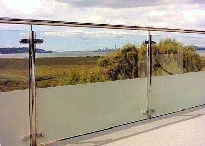 Best Related Image Glasbalkon Balkon Geländer Design Frost Glas 400 x 300