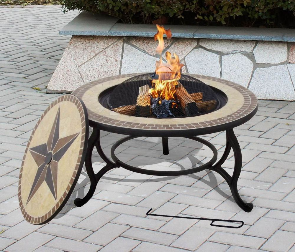 Details about FLORENCE Fire Pit Barbeque Outdoor Patio Heating