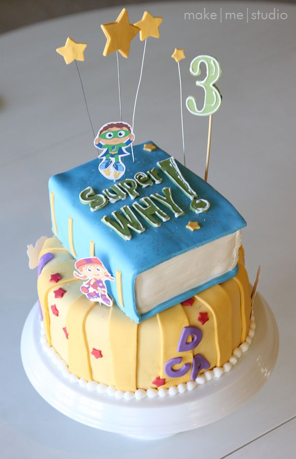 Make Me Studio Super Why Cake Kid Birthday Ideas Pinterest