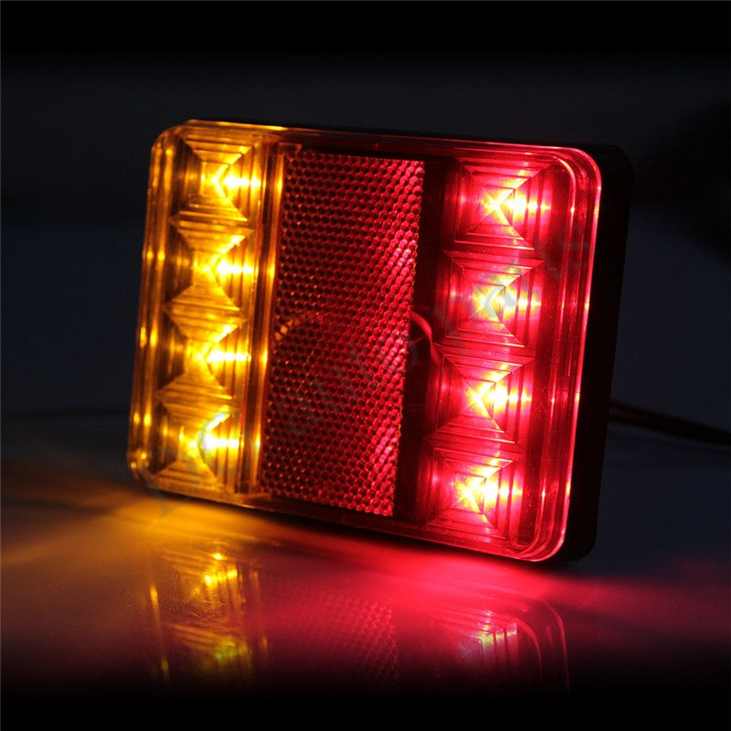 2 Pieces Waterproof Led Tail Light Rear Lamps Pair Trailer Rear Lighting Mit Bildern Hering