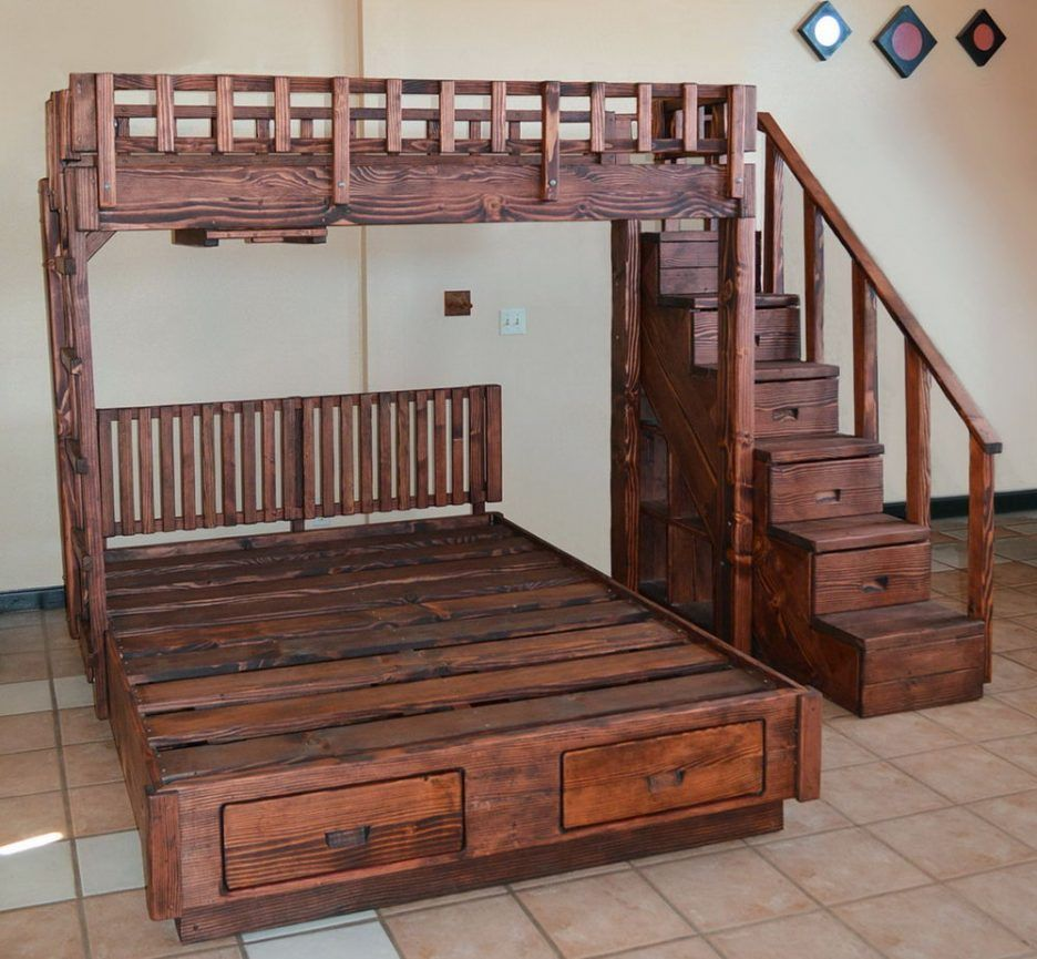 Bunk Beds  Bunk Beds Queen Bottom Full Top bunk bed with full size
