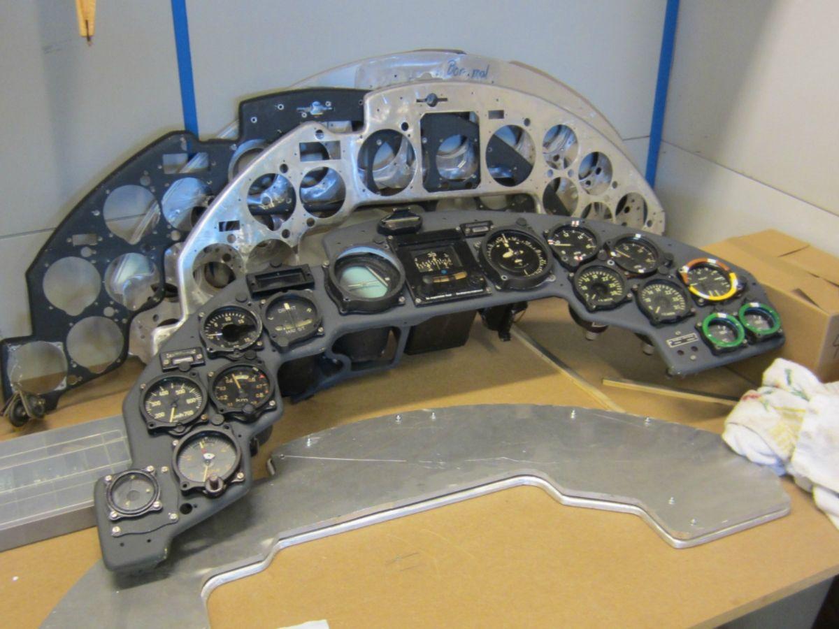 Ju88 main instrument panel restoration   Junkers Ju-88   Luftwaffe