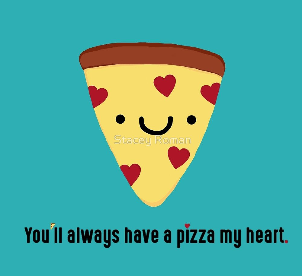 Pizza Pun Slice Kawaii Funny Italian Puns Heart