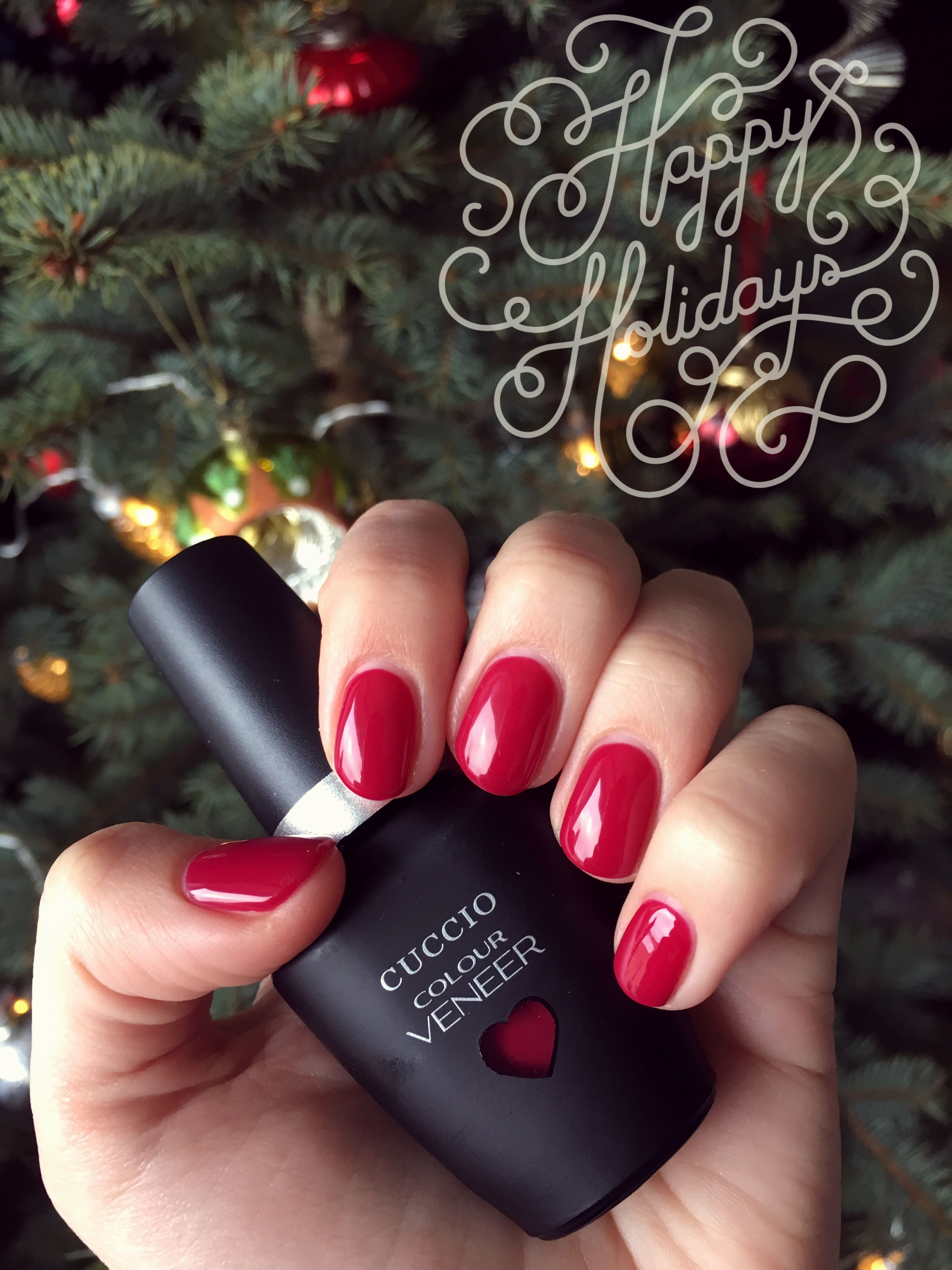 Cuccio Colour Veneer Heart Seoul Perfect Red Christmas Manicure Gel Manicure Manicure How To Do Nails