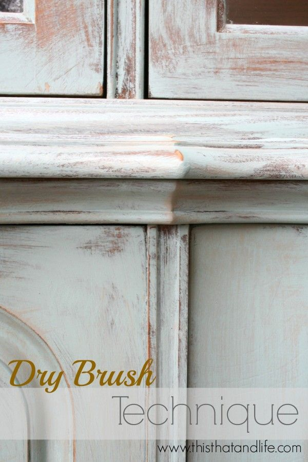 Great tutorial for using dry brush paint technique this - Vintage holzmobel ...