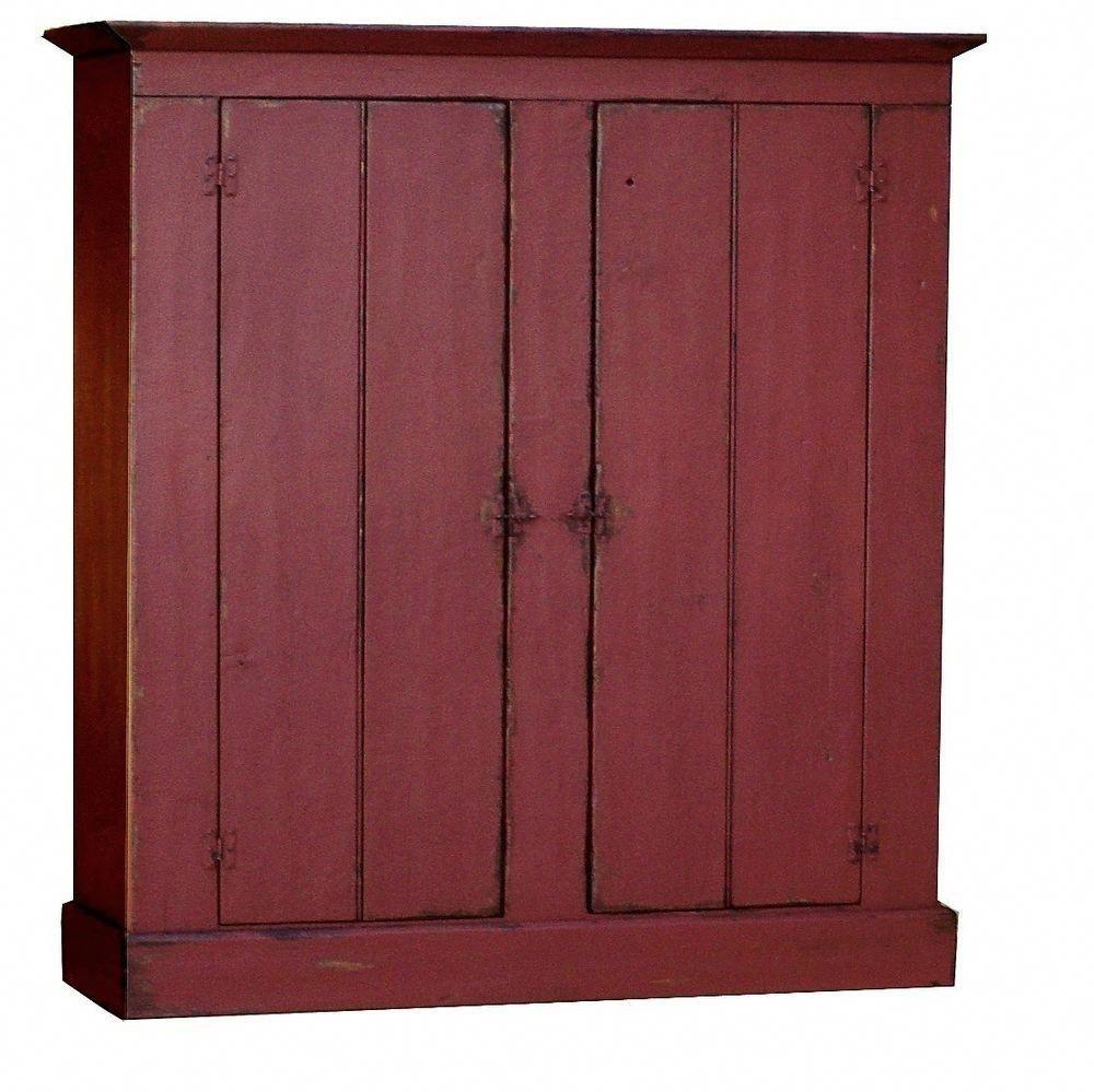 Rustic Pine Kitchen Cabinets: Details About PRIMITIVE FARMHOUSE LARGE KITCHEN PANTRY
