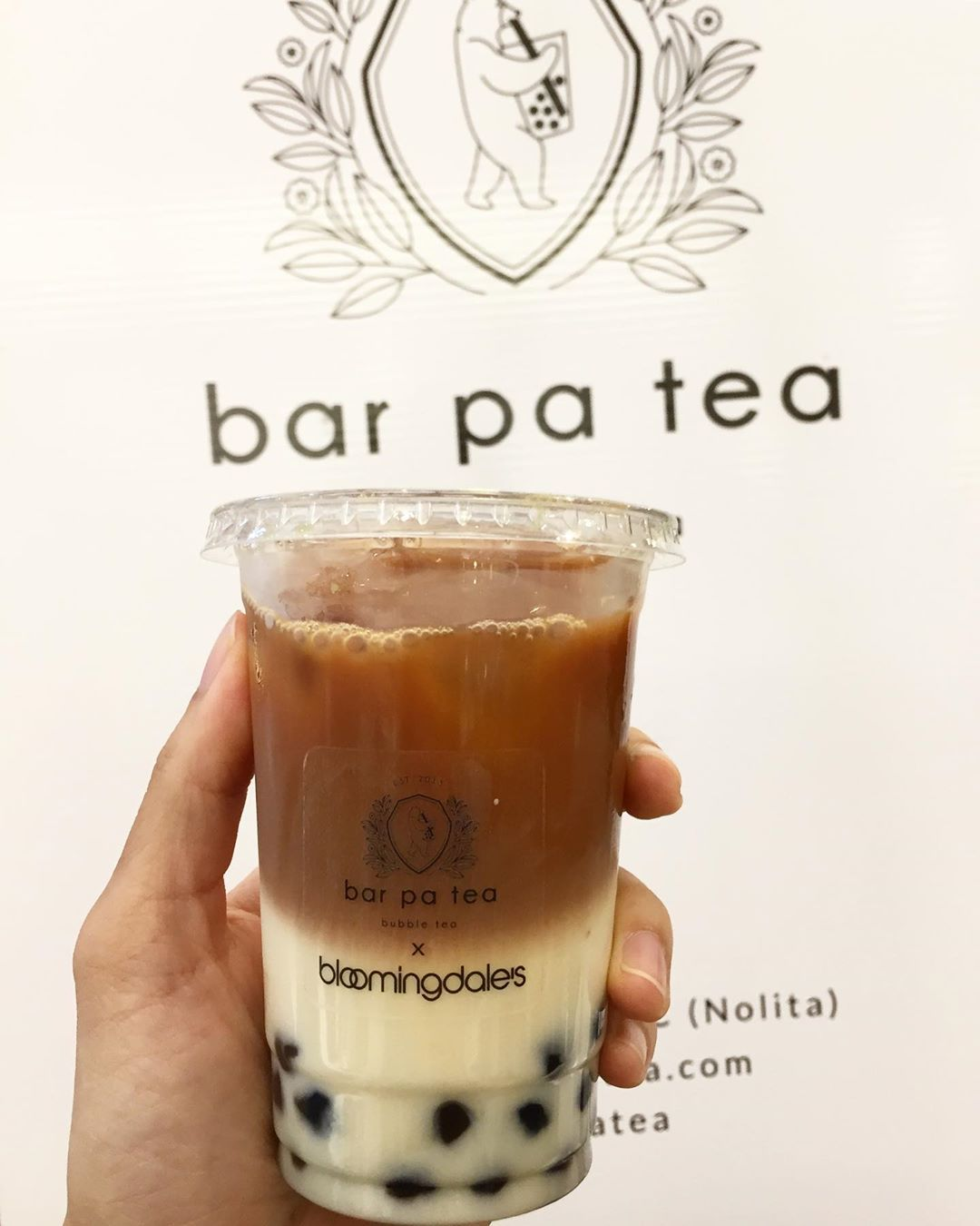 PA TEA in my mouth (5/5) black tea latte with oat milk. I agreed to 50% sugar, but after mixing it was sweet. Boba was chewy. Me likey  ____________________________________________