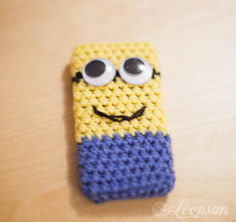 Minion Phone Case The Yarn Box For The House Crochet Patterns