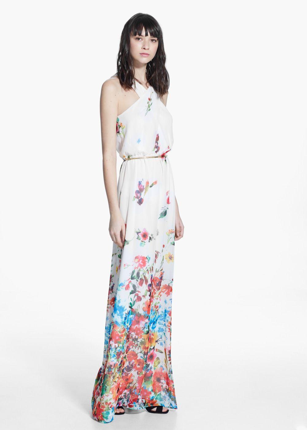 Langes kleid mit blumenmuster - Damen | Blumenmuster und Sommerfest