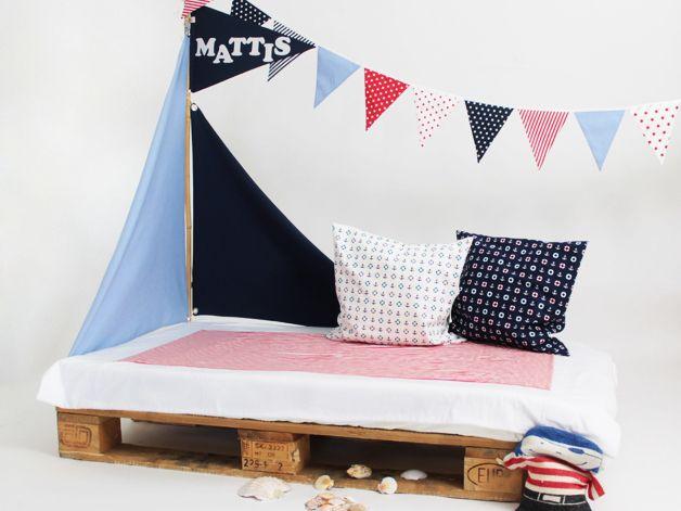 bettsegel segel f r kinderbetten pirat von liebesherz auf kinderzimmer. Black Bedroom Furniture Sets. Home Design Ideas