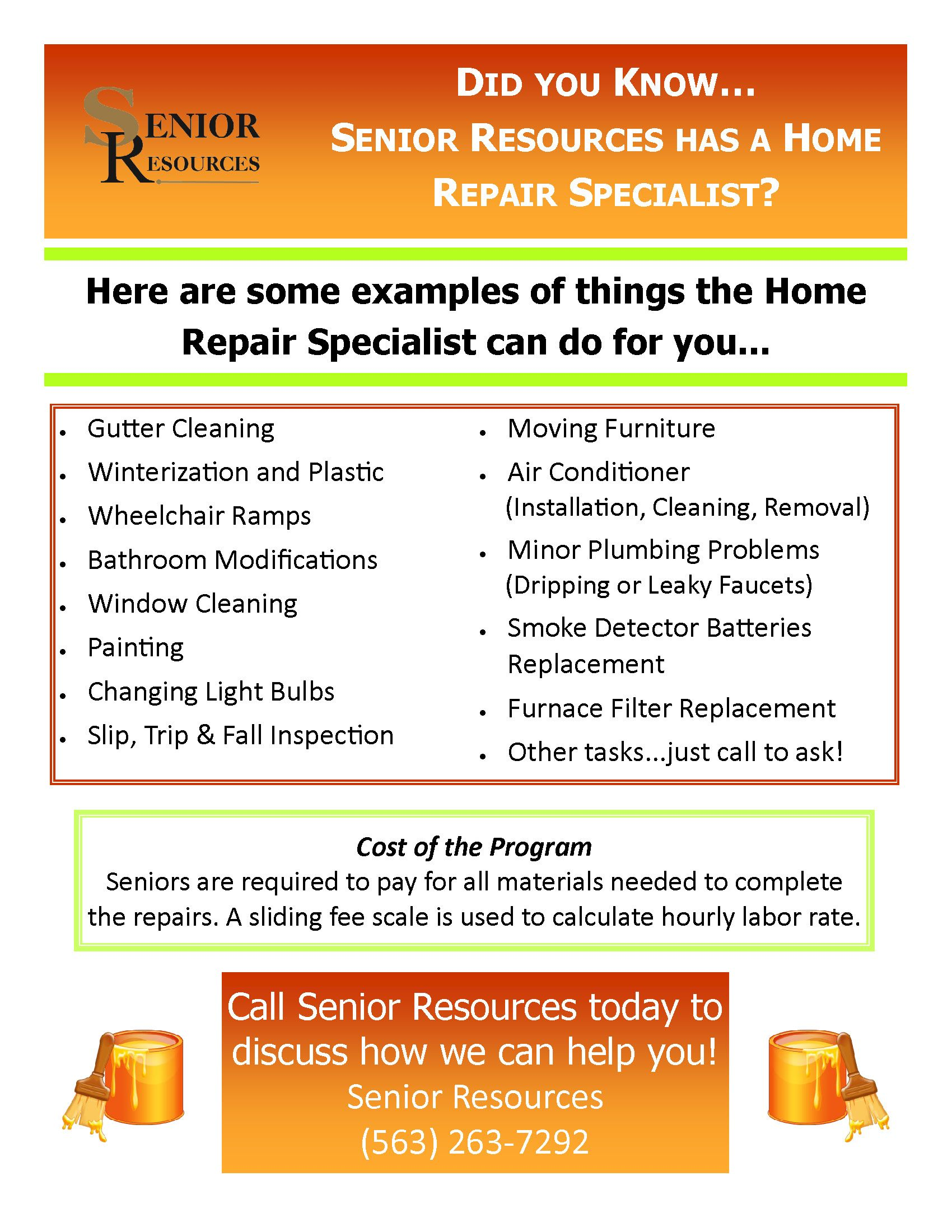 Home Repair Program Home Repair Cleaning Gutters Plumbing Problems