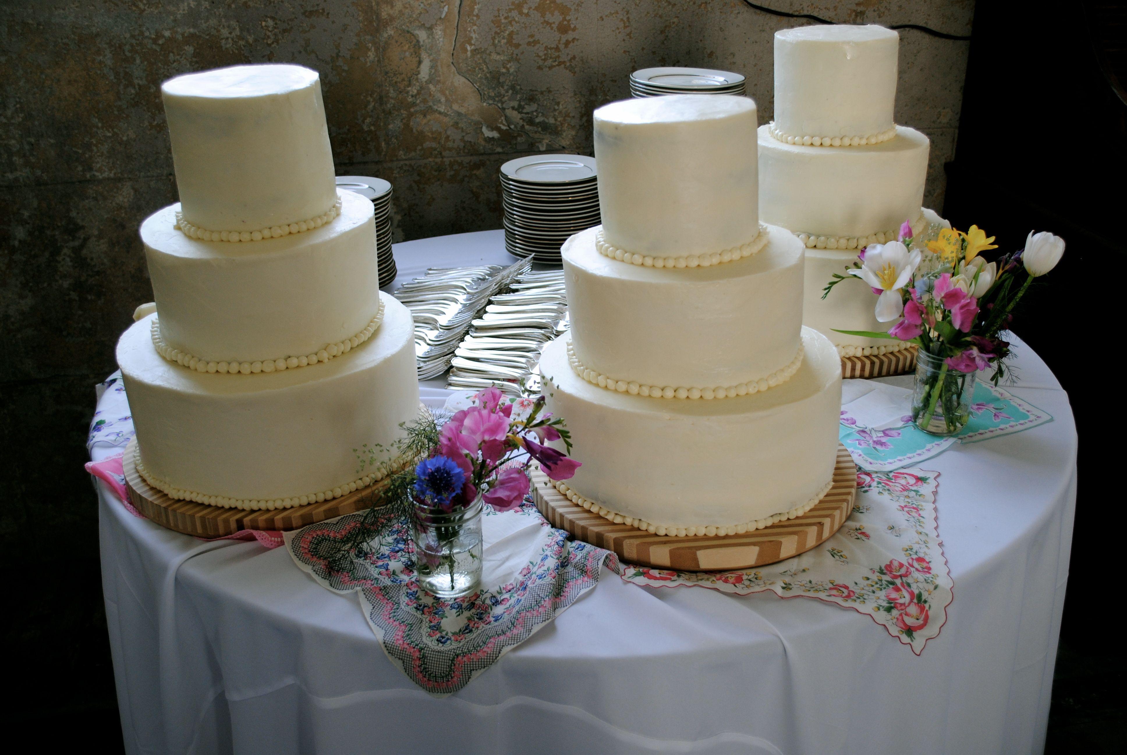 My first wedding cake project, New Orleans, LA 2012. Vanilla Buttercream with Dark Chocolate Cake