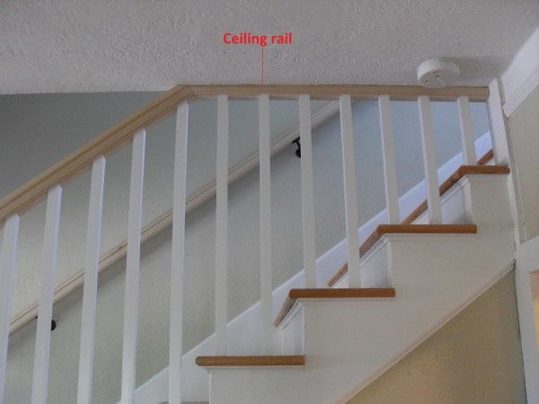 Need Help With A Stair Railing Community Forums Ceiling And Walls And