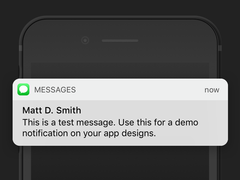 Ios 10 Message Banner Free Sketch Download Messages Ios Notifications Iphone Mockup