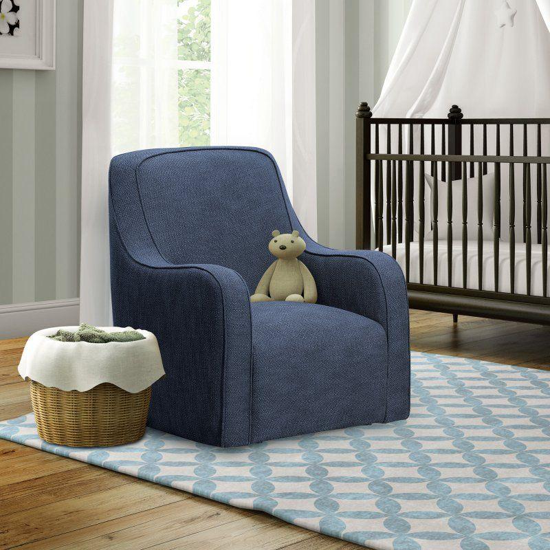 Shermag Brooklyn Upholstered Glider Chair   Denim Blue   37212.G8.0305
