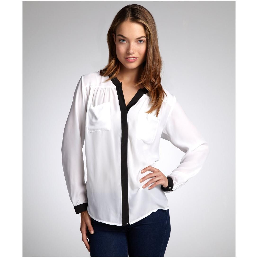 black and white blouse - Google Search | Client JM | Pinterest | Black