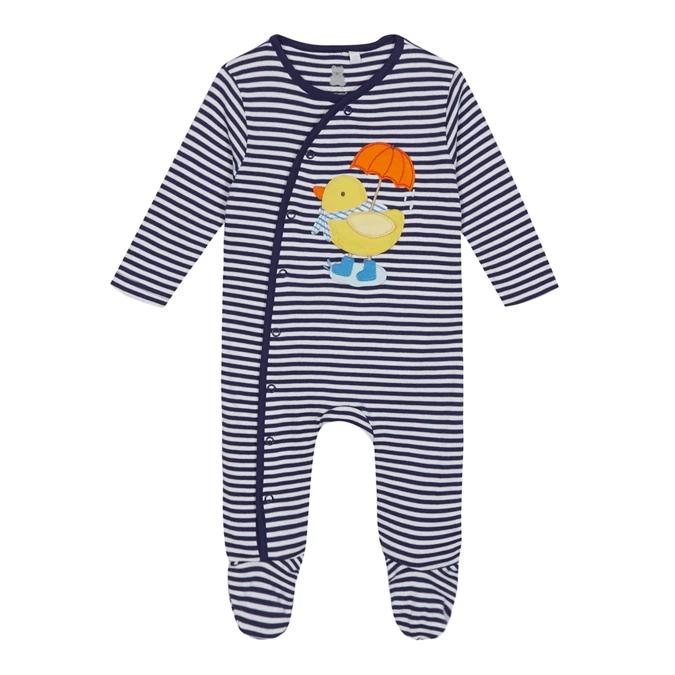 Bluezoo Kids Baby Girls/' Yellow Striped Bunny Applique Cotton Dress