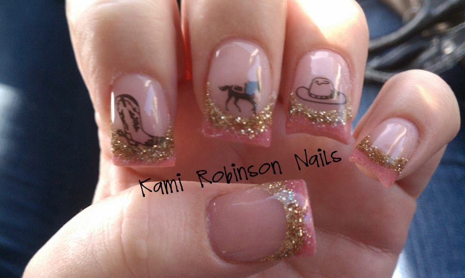 cowgirl nails. nails