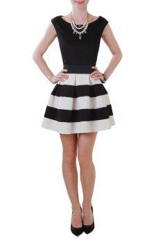 Carrie Skirt - Striped Skirt - Humblechic.com
