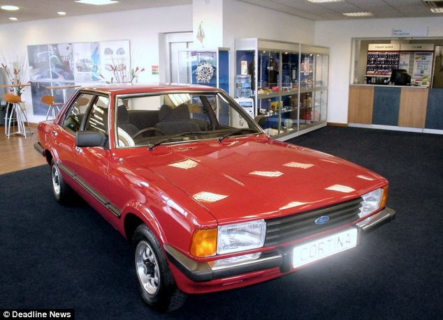 Lovely Red Mark V Ford Cortina In The Showroom Classic Cars