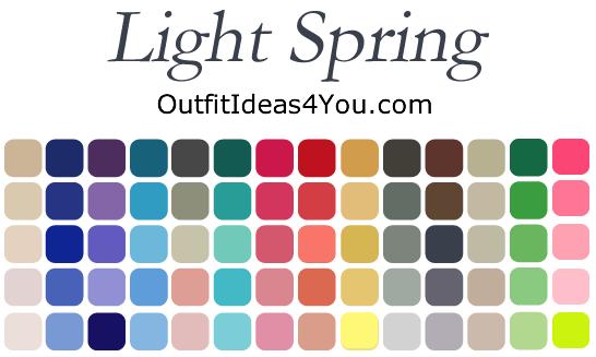 Light Spring Color Palette | Light spring and Seasonal ...