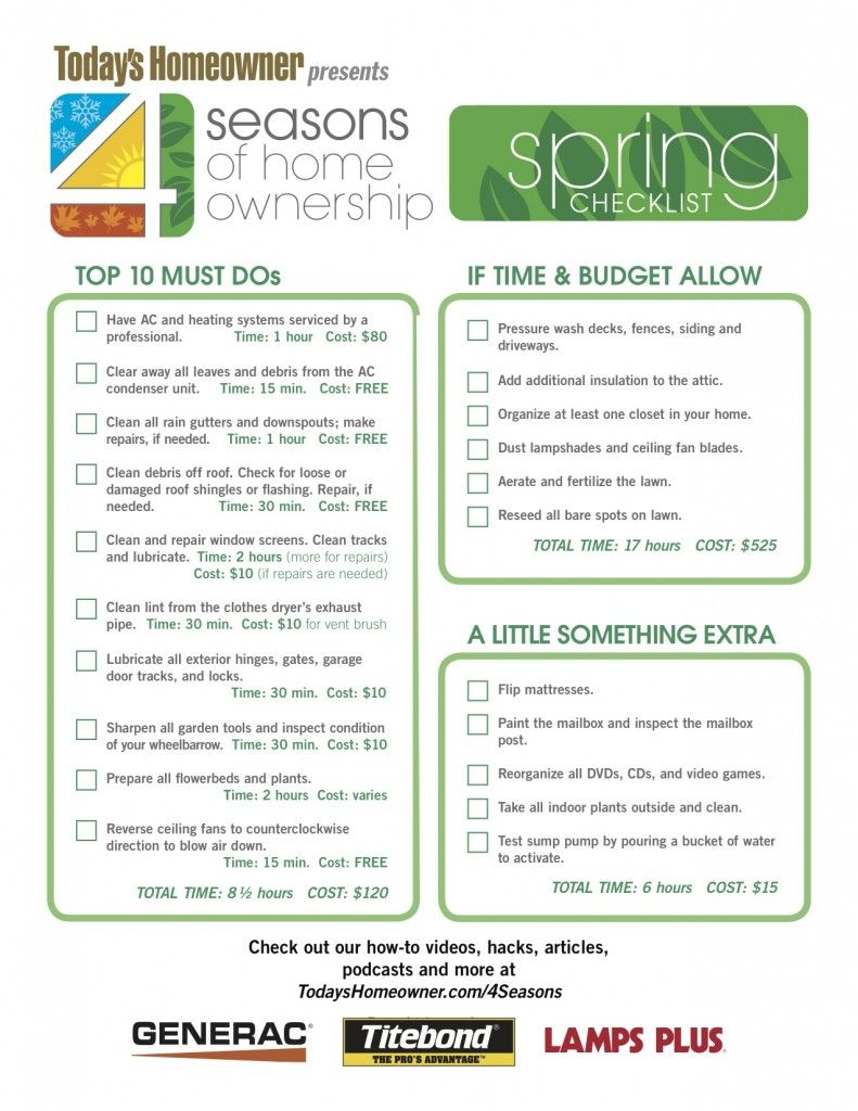 4 Seasons of Home Ownership   Today's Homeowner