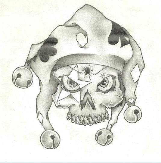 military skull drawings | Skull Clown | Art | Clown tattoo ...