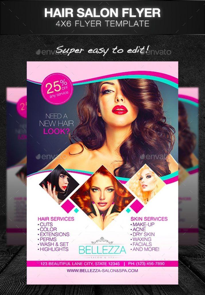 Free Hair Salon Flyer Templates Hair Salon Free Beauty Products Free Hair