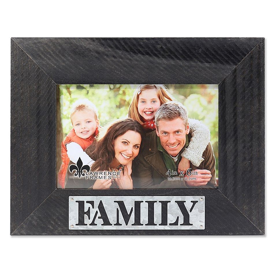 Lawrence Frames 4 X 6 Family Distressed Wood Picture Frame Black Picture On Wood Wood Picture Frames Lawrence Frames