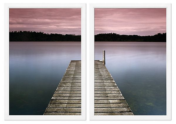 Charlie Waite, Lake Pier Diptych | A Radiant Palette | One Kings Lane