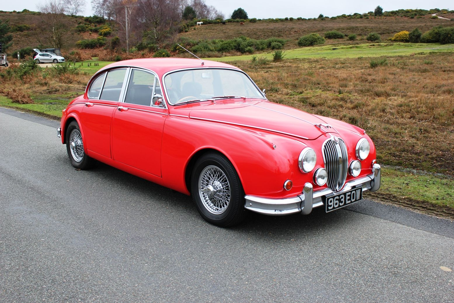 Jaguar Mk2 3 8 With Manual Gearbox 1963 Bright Red With Full Black Leather Interior This Is A Very Rare Car Being One Of The Fe Jaguar Jaguar S Type Red Car