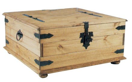 New Corona Mexican Pine Large Double Trunk Chest Storage Box