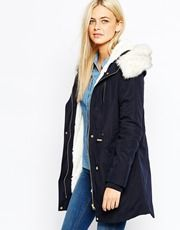 b9b41743c8b4 Oasis Premium Parka with Faux Fur Hood and Detachable Lining ...