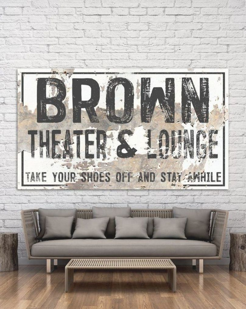 Theater Room Decor Modern Last Name Movie Room Sign Personalized Wall Art Movieroom Farmhouse Yellow Room Decor Theater Room Decor Room Signs