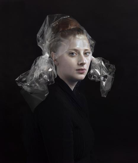 Hendrick's daughter in clear cellophane packaging - Hendrik Kerstens - Artists - Danziger Gallery