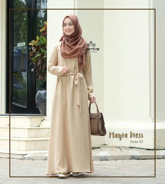 Gamis Jasmine Mayra Dress 03 Baju Gamis Wanita Busana Muslim