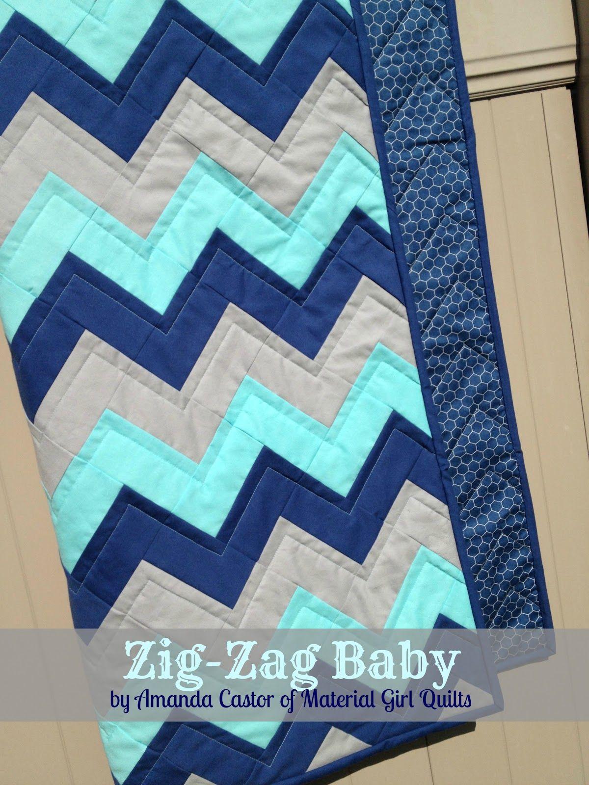 Zig Zag Baby Quilt Moda Bake Shop Tutorial Super Easy