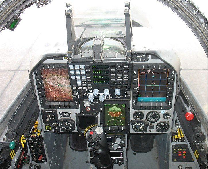 Colombian Air Force IAI Kfir C 10 Block 60 cockpit   All