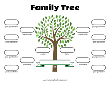 Simple Family Tree Template Free Family Tree Templates Free Family Tree Template Blank Family Tree Family Tree Printable