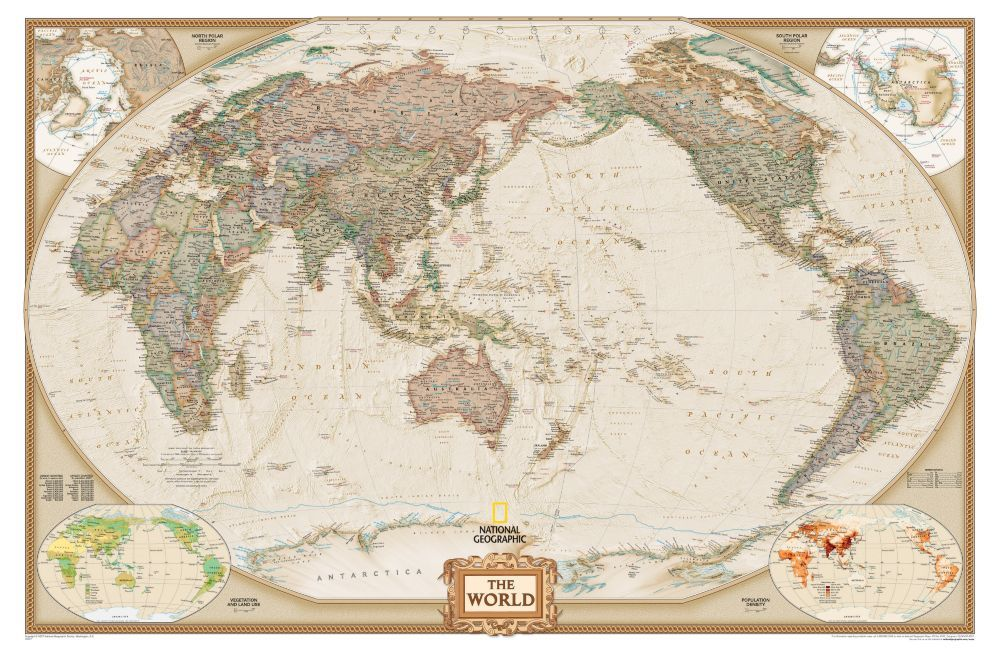 World classic pacific centered map earth toned national world classic pacific centered map earth toned national geographic store gumiabroncs Gallery