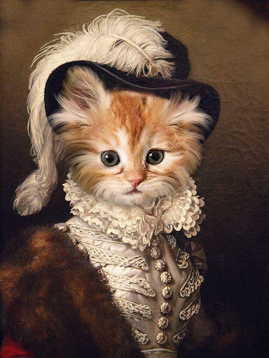 Pin By Gema On Animals Dressed As Humans Animal Portraits Art Cat Portraits Pet Portraits