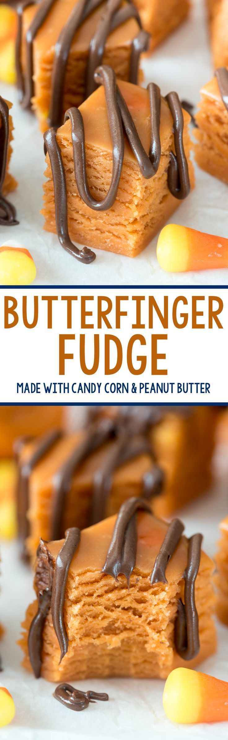 This easy 3-ingredient Butterfinger Fudge tastes just like the candy bar and…