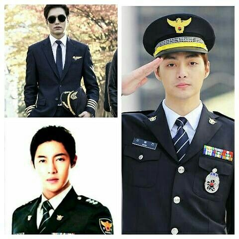 Boys over flowers in uniform