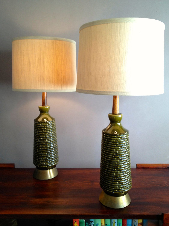 r e s e r v e d gorgeous green mid century pair ceramic rh pinterest com