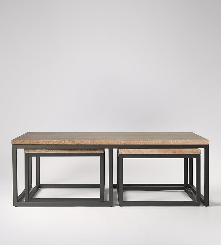 Best Sullivan Industrial Style Coffee Table Pine Coffee 400 x 300