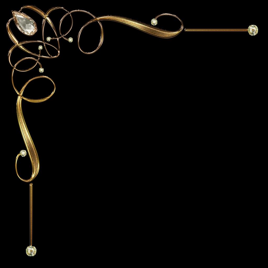 Decorative Corner With Jevelry Gems In Gold By Lyotta Deviantart Com On Deviantart Free Clip Art Clip Art Clip Art Vintage